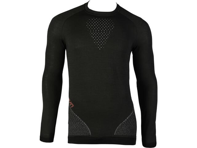 UYN Fusyon UW T-shirt à manches longues Homme, caviar/beige/bordeaux